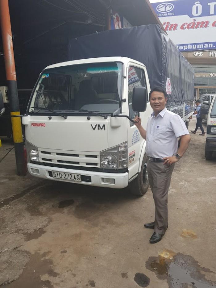 Bán gấp xe tải Isuzu 1t9 thùng 6m2, trả trước 50tr có xe, giá rẻ tại Cà Mau