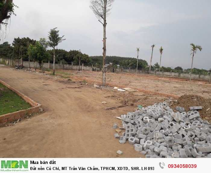 Đất nền Củ Chi, MT Trần Văn Chẩm, TPHCM, XDTD, SHR