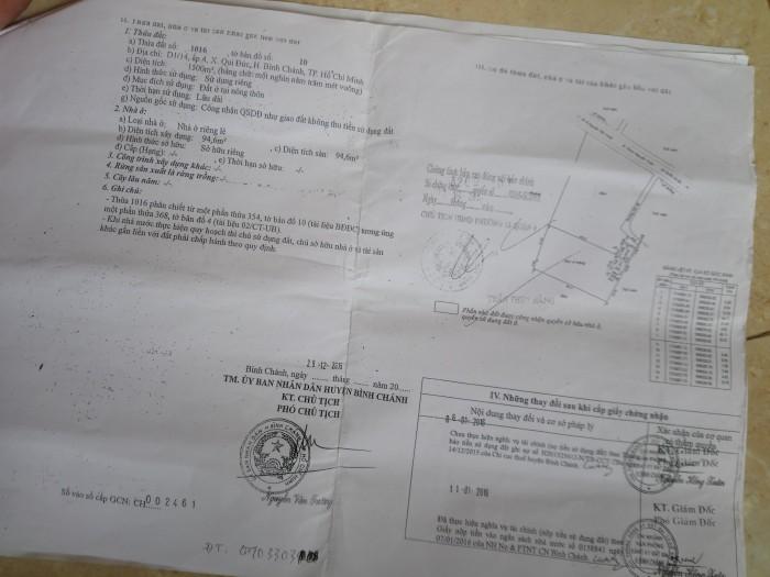 Cần Bán 3500m2 Mặt Tiền Hương Lộ 11, Quy Đức, Bình Chánh, Tphcm