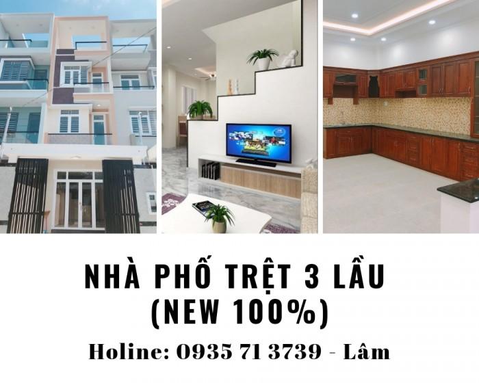 (Đi nước ngoài) bán nhà (2MT) Đường 12, DT: 4x17m. (T + 3 lầu) KDC Sang Trọng .