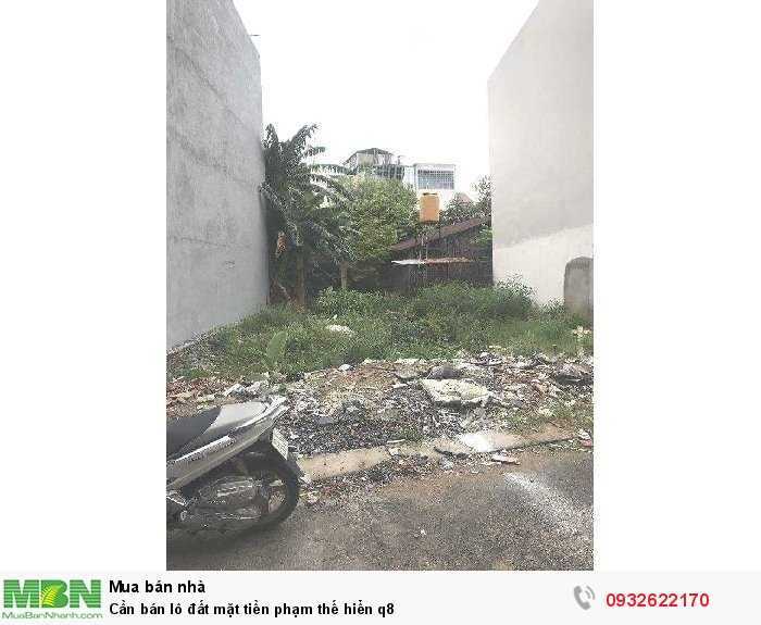 Cần bán lô đất mặt tiền Phạm Thế Hiển q8