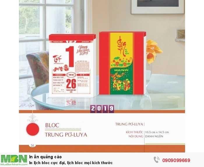 Lịch bloc Poluya kích thước 10.5 x 14.5cm