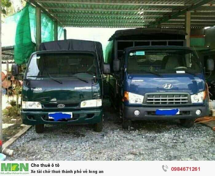 Xe tải chở thuê thành phố về long an