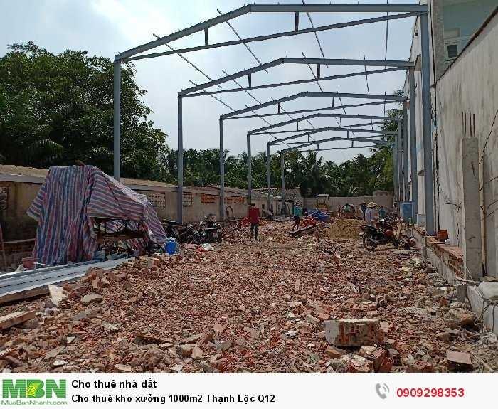 Cho thuê kho xưởng 1000m2 Thạnh Lộc Q12