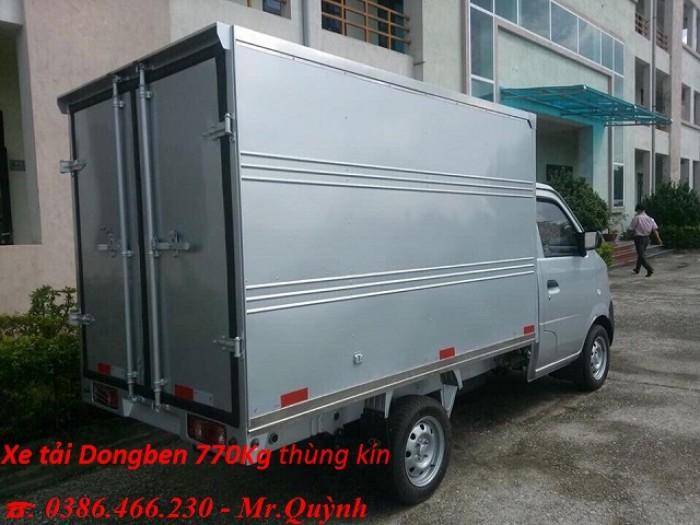 Xe tải Dongben DB1021–770Kg thùng kín
