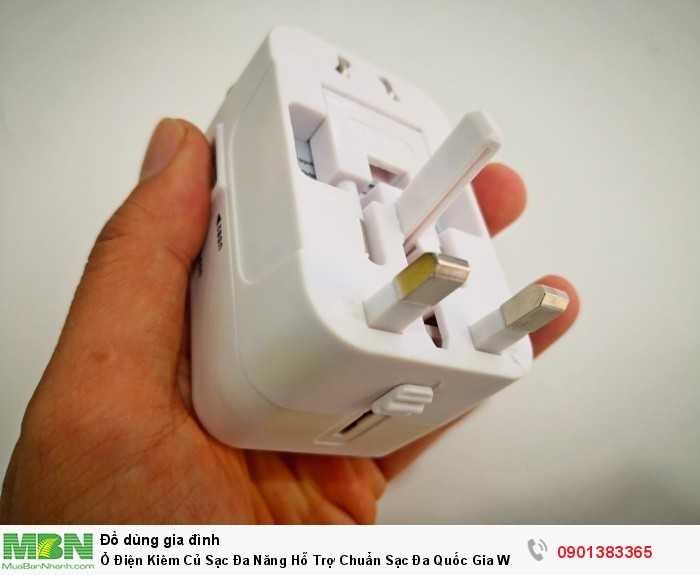 Ổ điện đa năng thích hợp sử dụng mang theo đi du lịch, thay vì phải chuẩn bị...