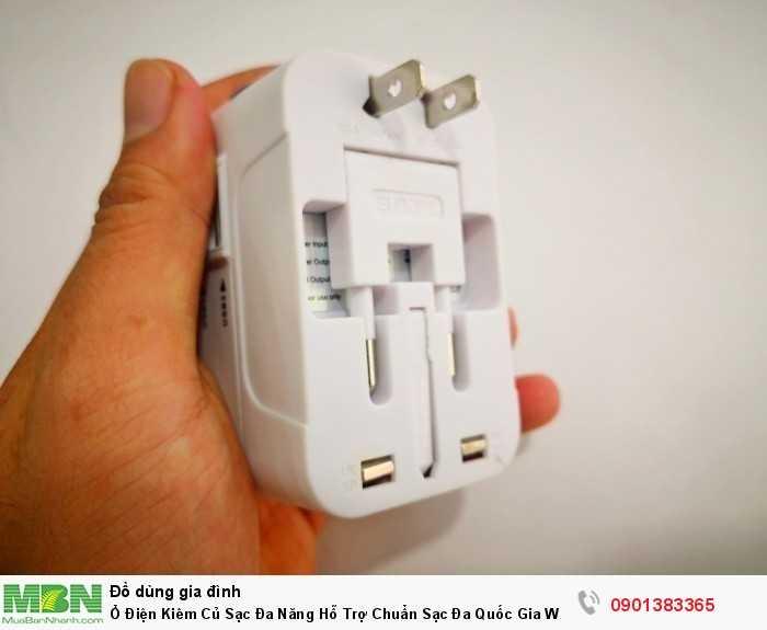 Sử dụng khi có ổ điện chuyển nguồn điện, sạc được điện thoại, iPad.