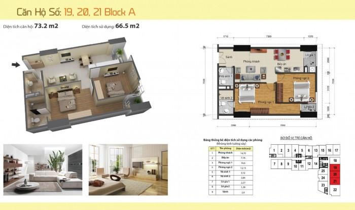 Bán phá giá, thấp hơn cả giá chủ đầu tư! Cắt lỗ căn hộ 73m2, 2 PN tòa A Gemek Tower 1 - Hoài Đức