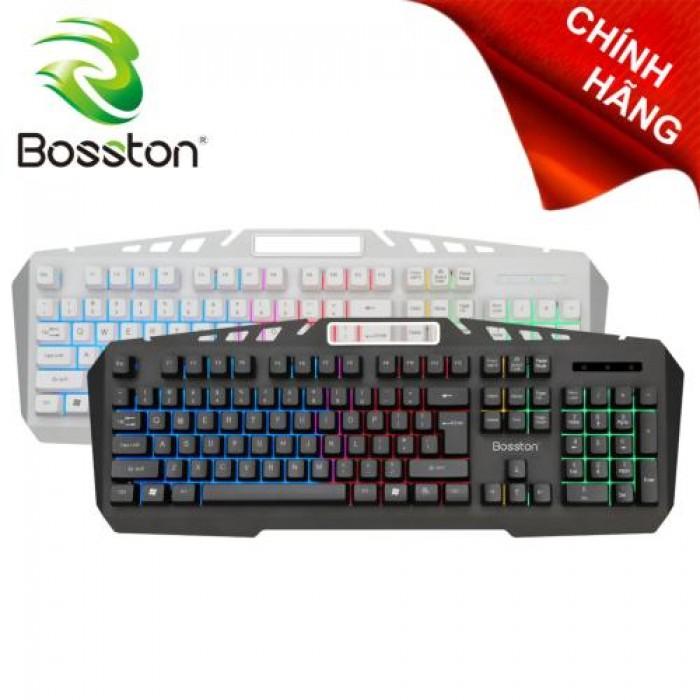 Bàn phím giả cơ Bosston K330 led 7 màu có giá đỡ điện thoại chính hãng0