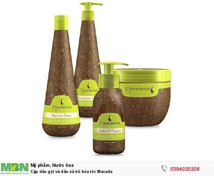 Cặp dầu gội và dầu xả trẻ hóa tóc Macada