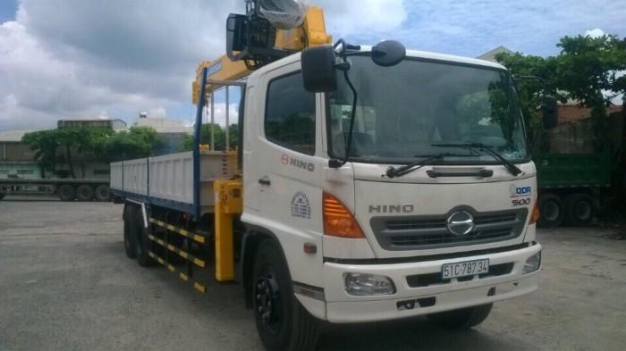 Mua xe tải Hino FL gắn cẩu Soosan 746L sức nâng 7.5 tấn, tải trọng hàng 12 tấn, cẩu vươn dài 19m - Gọi 0907043398 (Mr Tú 24/24)