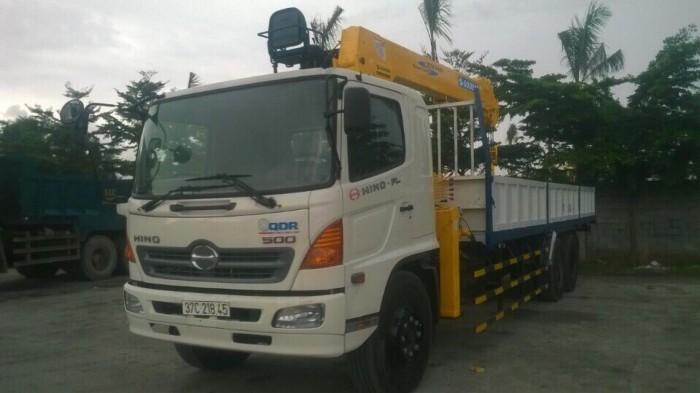 Bán xe tải Hino FL gắn cẩu Soosan 746L sức nâng 7.5 tấn, tải trọng hàng 12 tấn, cẩu vươn dài 19m - Gọi 0907043398 (Mr Tú 24/24)