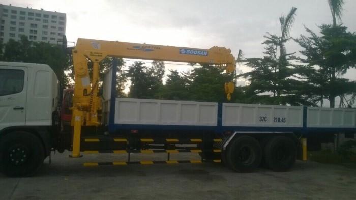 Giá xe tải gắn cẩu Hino FL gắn cẩu Soosan 746L sức nâng 7.5 tấn, tải trọng hàng 12 tấn, cẩu vươn dài 19m - Gọi 0907043398 (Mr Tú 24/24)