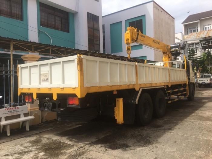 Giá xe tải Hino FL gắn cẩu Soosan 746L sức nâng 7.5 tấn, tải trọng hàng 12 tấn, cẩu vươn dài 19m - Gọi 0907043398 (Mr Tú 24/24)