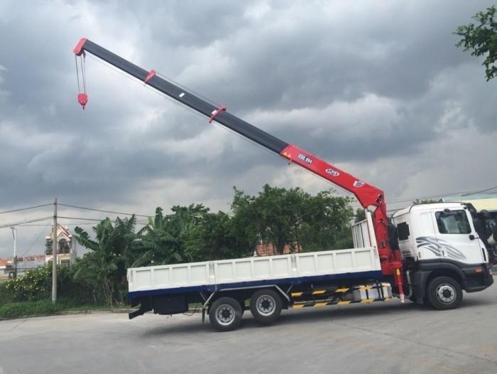 Xe tải Daewoo Prime KC6C1 3 chân 12 tấn, gắn cẩu unic 5 tấn, trả trước 300 triệu giao luôn xe