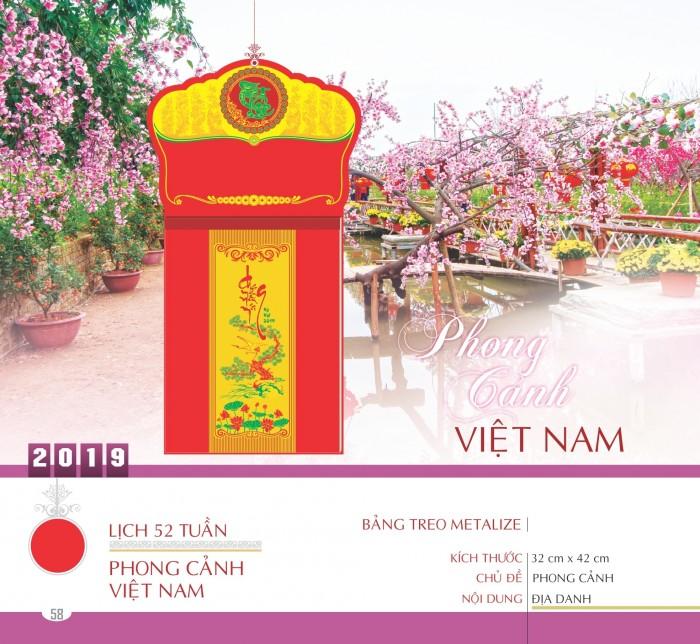 Lịch bloc 52 tuần chủ đề phong cảnh Việt Nam
