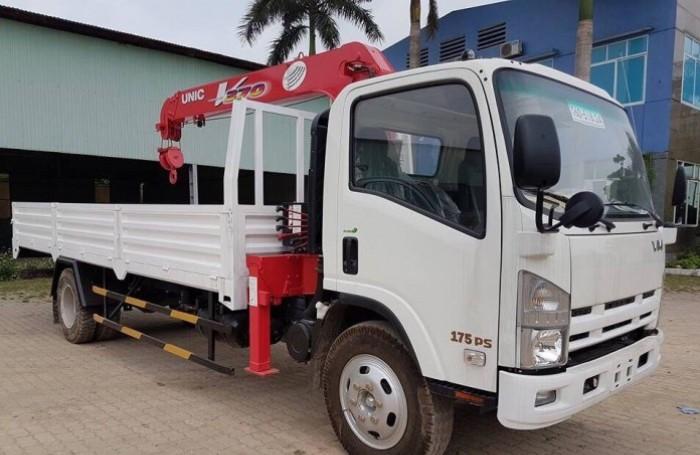 Mua xe tải gắn cẩu Isuzu FRR90N tải trọng 5 tấn, gắn cẩu unic 3 tấn, trả trước 200 triệu giao luôn xe - Gọi 0907043398 (MrTú 24/24)