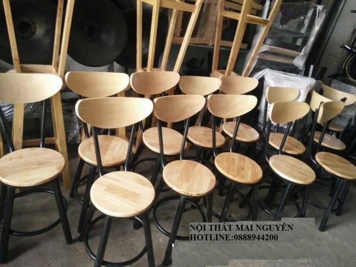 Thanh lý bộ bàn ghế bar gỗ giá rẻ-mn1