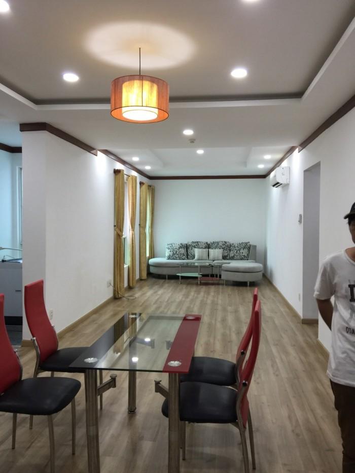 Cần cho thuê căn hộ chung cư Hoàng Anh 1, Quận 7, DT 88m2, 2 phòng ngủ, nội thất đầy đủ
