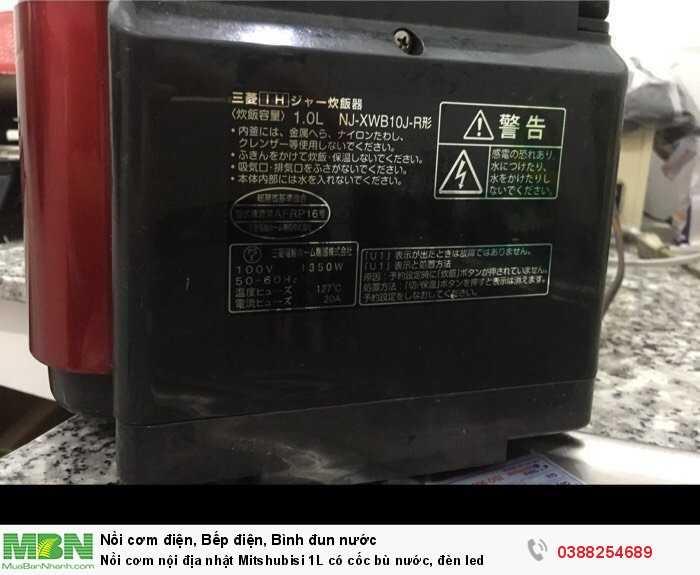 Nồi cơm nội địa nhật Mitshubisi 1L có cốc bù nước, đèn led3