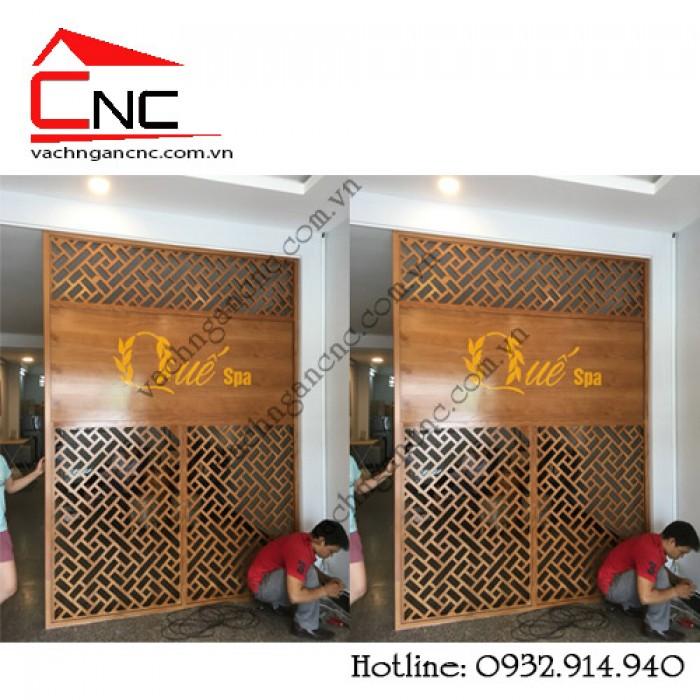Thi công vách ngăn CNC nội thất phòng Spa đẹp tại Ông Ích Khiêm Q11