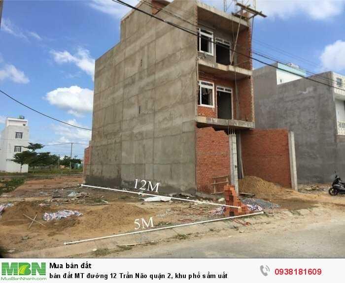 bán đất MT đường 12 Trần Não quận 2, khu phố sầm uất