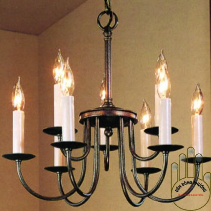 đèn chùm sắt uốn đơn giản 2 tầng đẹp0