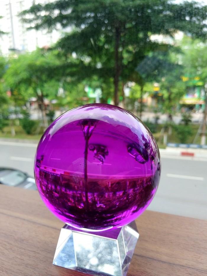 Quả cầu phong thủy pha lê màu tím hợp mệnh Thổ, mệnh Hỏa4