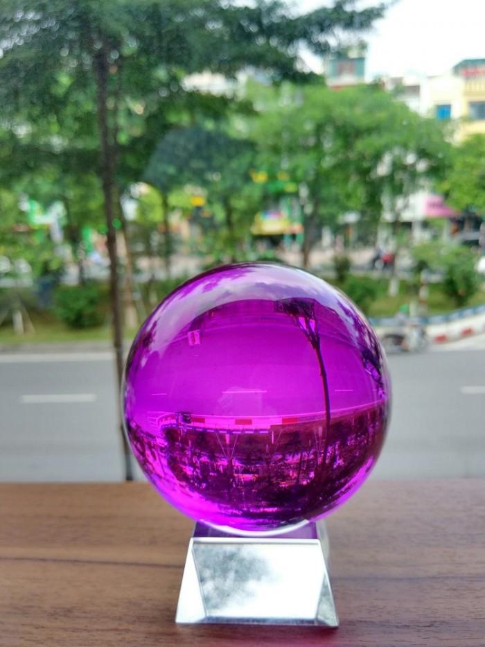 Quả cầu phong thủy pha lê màu tím hợp mệnh Thổ, mệnh Hỏa5