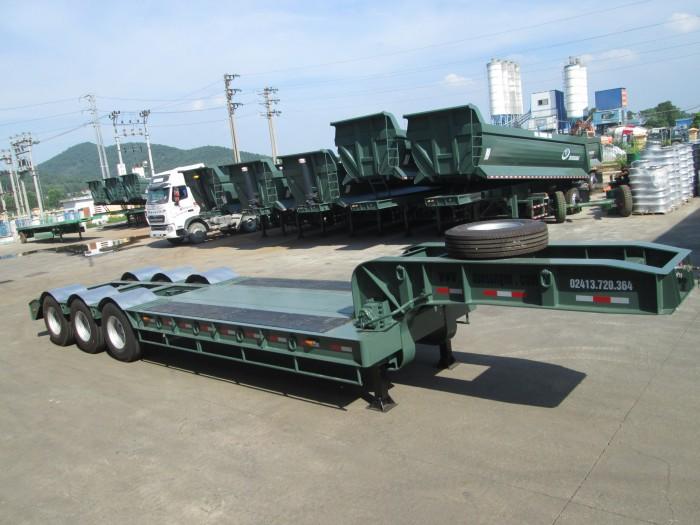 Bán moóc Phooc Lùn (chở xe, máy chuyên dùng) 3 trục, 14m,sàn 6m,giá rẻ toàn quốc.