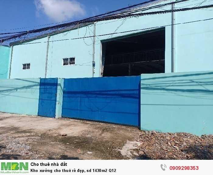 Kho xưởng cho thuê 1200m2 Thạnh Lộc Q12