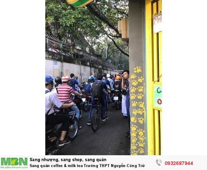 Sang quán coffee & milk tea Trường THPT Nguyễn Công Trứ