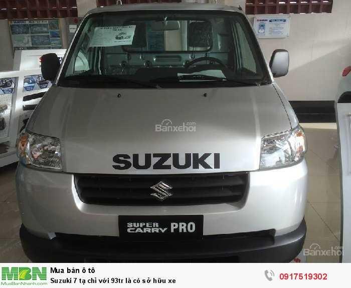 Suzuki 7 tạ chỉ với 93tr là có sở hữu xe