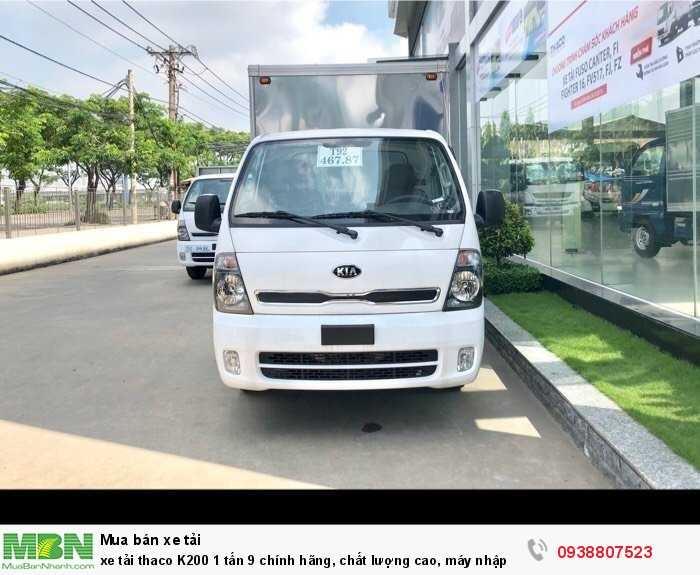 Xe tải Thaco K200 1 tấn 9 chính hãng, chất lượng cao, máy nhập