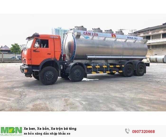 xe bồn xăng dầu nhập khẩu xe