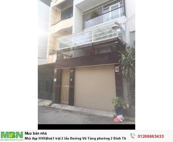 Nhà đẹp HXH(6m)1 trệt 2 lầu Đường Vũ Tùng phường 2 Bình Thạnh.