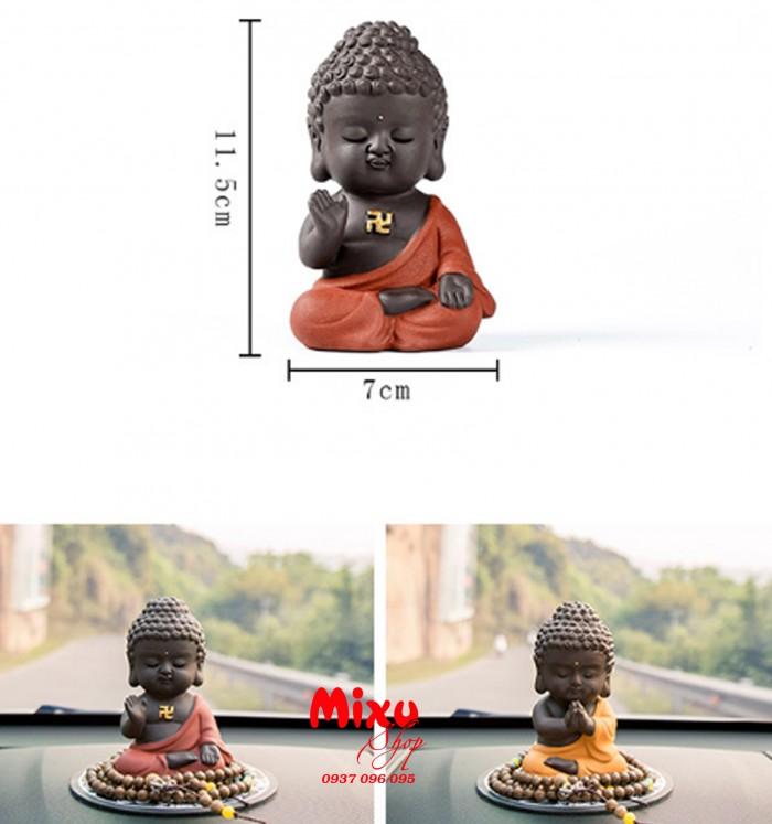 Tượng chibi Phật A Di Đà bằng gốm tử sa16
