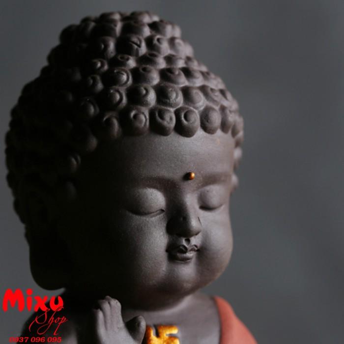Tượng chibi Phật A Di Đà bằng gốm tử sa14