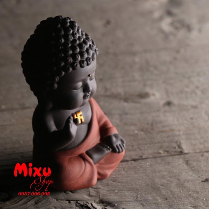 Tượng chibi Phật A Di Đà bằng gốm tử sa15