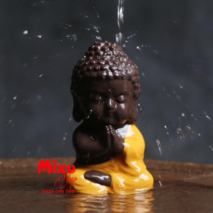 Tượng chibi Phật A Di Đà bằng gốm tử sa13