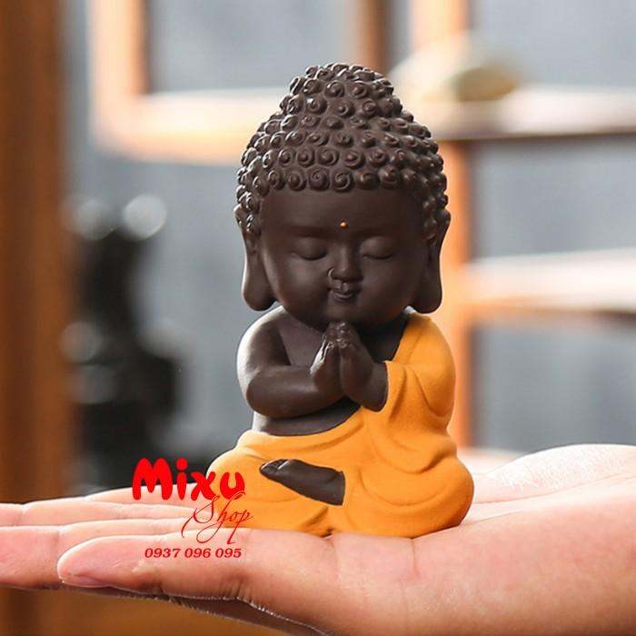 Tượng chibi Phật A Di Đà bằng gốm tử sa11