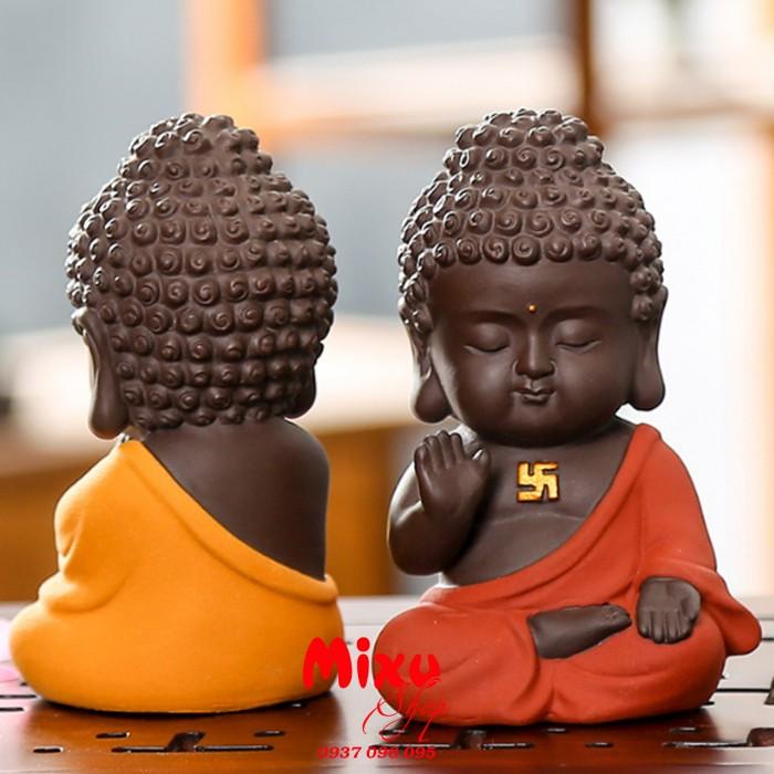 Tượng chibi Phật A Di Đà bằng gốm tử sa5