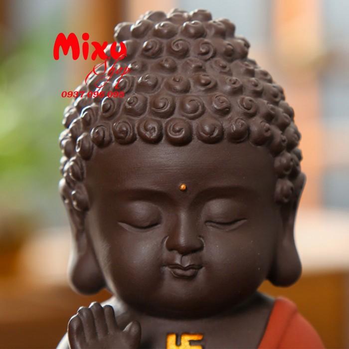 Tượng chibi Phật A Di Đà bằng gốm tử sa8