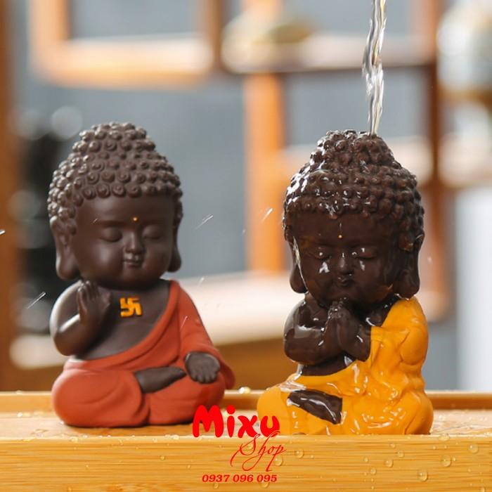 Tượng chibi Phật A Di Đà bằng gốm tử sa2