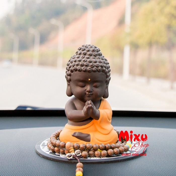 Tượng chibi Phật A Di Đà bằng gốm tử sa6