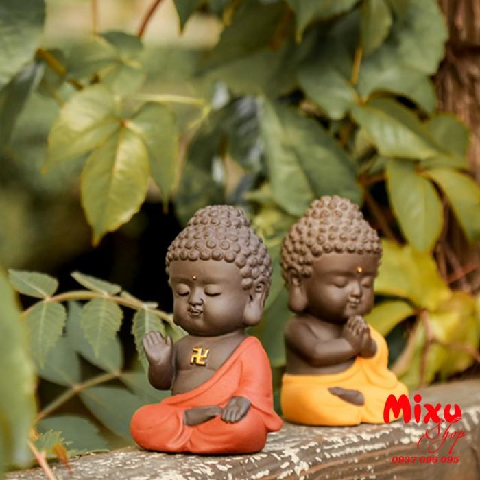 Tượng chibi Phật A Di Đà bằng gốm tử sa9