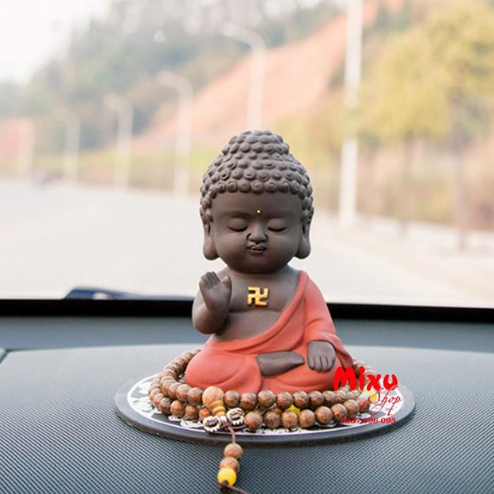 Tượng chibi Phật A Di Đà bằng gốm tử sa3
