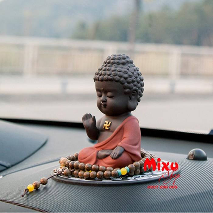 Tượng chibi Phật A Di Đà bằng gốm tử sa4