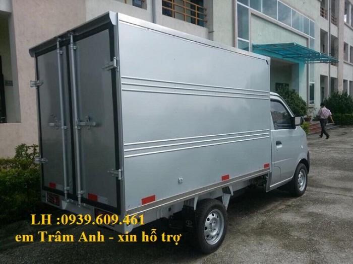 Xe tải Dongben thùng mui bạt 810kg/ thùng kín 770kg