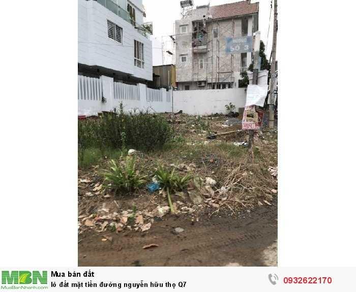 Lô đất mặt tiền đường Nguyễn Hữu Thọ Q7